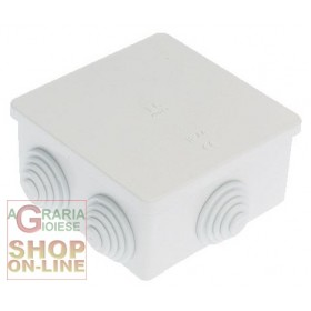 WATERPROOF JUNCTION BOX IP44 EXTERNAL MM. 80X80X40