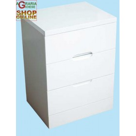 CHEST OF 3 DRAWERS LACQUERED WHITE CM. 50X40X67H