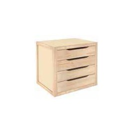 WOODEN DRAWER WITH 4 DRAWERS CM. 39X30X37,5 H.