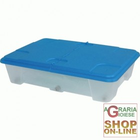 DRAWER IN PVC UNDERBED WITH WHEELS AND LID CM. 60X40X37H