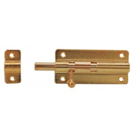FLAT BRASS BOLT WITH GLOSSY FINISH MM. 100