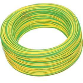 SINGLE-POLE ELECTRIC CABLE SECTION 1 X 1.5 YELLOW GREEN MT. 100