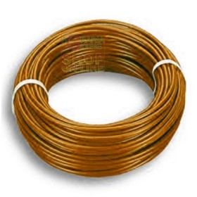 ELECTRIC CABLE UNIPOLAR SECTION 1 X 1,5 BROWN MT. 100