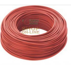 1-POLE ELECTRIC CABLE SECTION 1 X 1,5 RED MT. 100