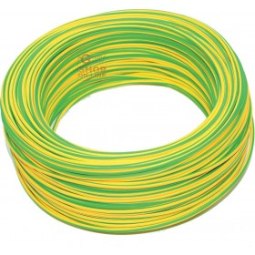 UNIPOLAR ELECTRIC CABLE SECTION 1 X 2,5 YELLOW GREEN MT. 100