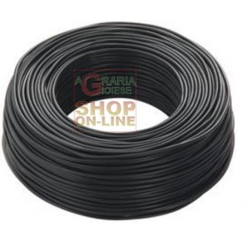 ELECTRIC CABLE UNIPOLAR SECTION 1 X 2,5 BLACK MT. 100