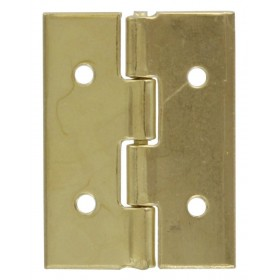 BRASS STEEL HINGES REMOVABLE PIN mm. 15x10 box of pcs. 20