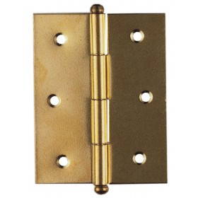 BRASS STEEL HINGES REMOVABLE PIN mm. 40x35 blister packs of pcs. 2