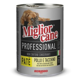 MIGLIORCANE PROFESSIONAL PATE WITH CHICKEN AND TURKEY GR.400