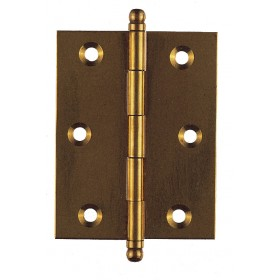 BRASS HINGES REMOVABLE PIN mm. 70x55 blister packs of pcs. 2