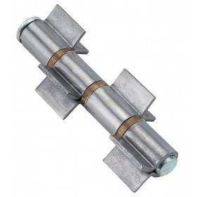HINGES FOR IRON TO BE WELDED WITH 4 WINGS MAXI PIN AND WASHER REMOVABLE cm. 18 pcs. 2