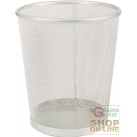 SILVER WASTE BASKET 27x30H SILVER FOR OFFICE
