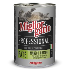 MIGLIORGATTO PATE PROFESSIONAL BEEF / VEGETABLES GR. 400