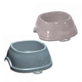 Break 1 plastic bowl for dogs and cats cm. 17x17x6h. Ml. 400