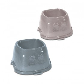 Break 9 plastic bowl for dogs and cats cm. 19x19x11h. Ml. 700