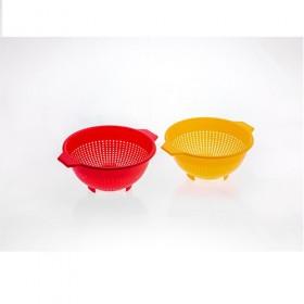 COLAPASTA DI PLASTICA DIAM. 24 Bianco/Giallo O./Rosso