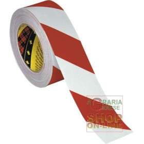 SCOTCHLITE TAPE 5X25 CM MT CONF 2 ROLLS RIGHT LH COLOR WHITE RED