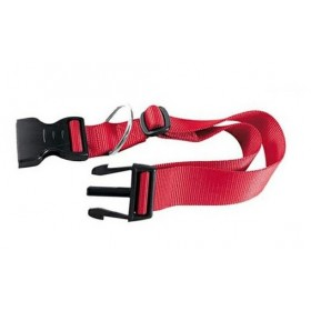 ADJUSTABLE COLLAR FOR DOGS IN RED NYLON MM. 10x20 / 30