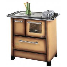 NORDICA WOOD COOKER MOD. ROMANTIC 4.5 KW. 6.0 BROWN COLOR