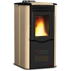 NORDICA EXTRAFLAME PELLET STOVE ROSY PARCHMENT KW 5