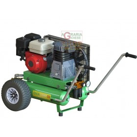 MINELLI ENER-COMP-55K COMPRESSOR IN COMBUSTION 4 STROKE ENGINE HONDA GX-160 WITH 2 TANKS AND 1 ROD