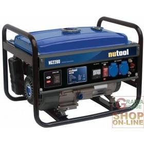 NUTOOL GENERATORE DI CORRENTE NG2200 KW 2,2 HP. 6,5