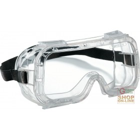 PANORAMIC GLASSES WITH PVC FRAME, ANTI-SCRATCH AND ANTI-FOG TREATMENT