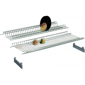 SHELF COLAPIATTI IN CHROME STEEL CM. 86 WITH SUPPORTS