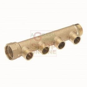3/4 INCH MALE LINEAR MANIFOLD 3 WAY 3/4 IN. X 18 INTERNAL 50 MM.