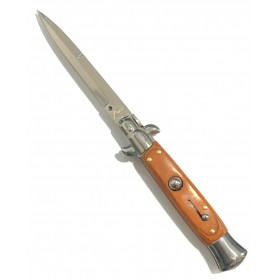 SNAP KNIFE STAINLESS STEEL BLADE WITH WOODEN HANDLE COLOR BROWN CM. 22