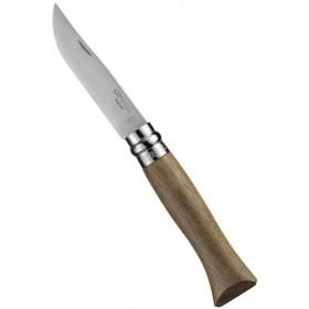 OPINEL KNIFE STAINLESS STEEL BLADE WALNUT HANDLE N. 6
