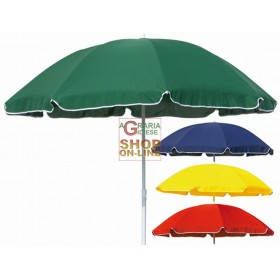 BEACH UMBRELLA ASSORTED COLORS FROM CM. 180