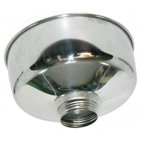 OMRA STAINLESS STEEL FUNNEL CM. 22 WITH LARGE SCREW FOR OMRA