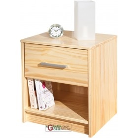 BEDSIDE TABLE IN SOLID PINE NATURAL WOOD COLOR cm. 42x40x49H