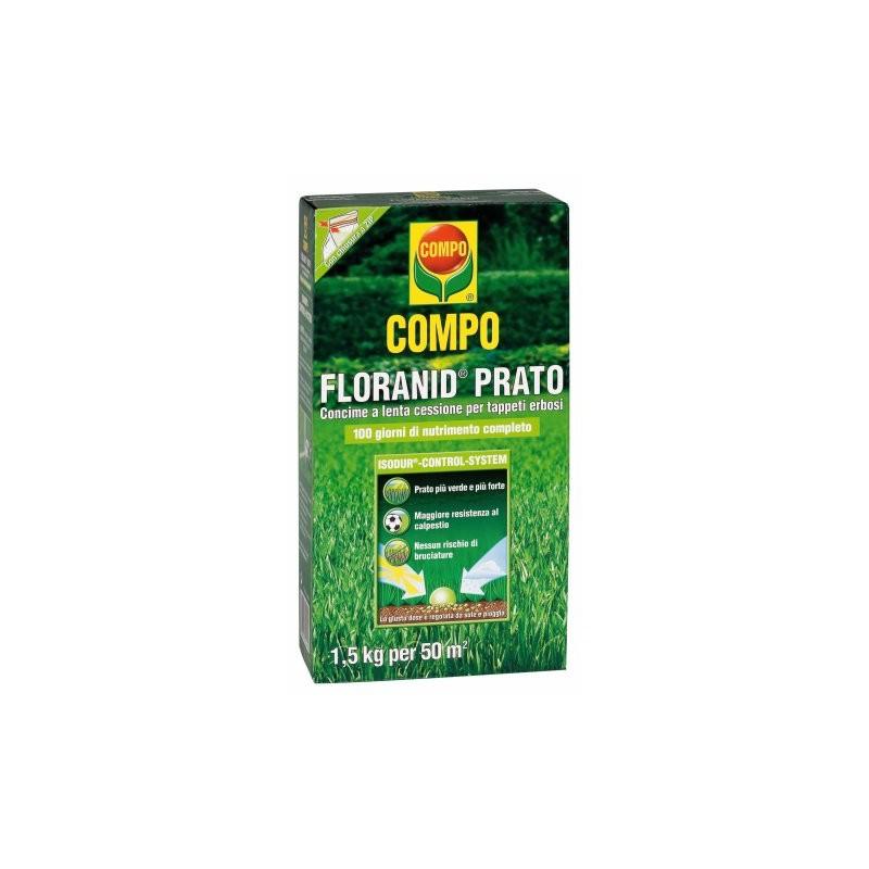 Compo floranid prato concime per tappeti erbosi con for Diserbante per prato