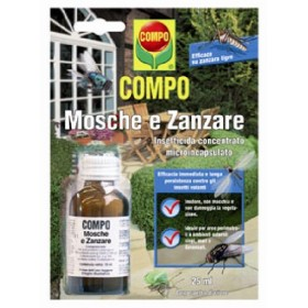 COMPO INSECTICIDE CONCENTRATED FOR Flies and Mosquitoes Draker 10.2 ML. 25