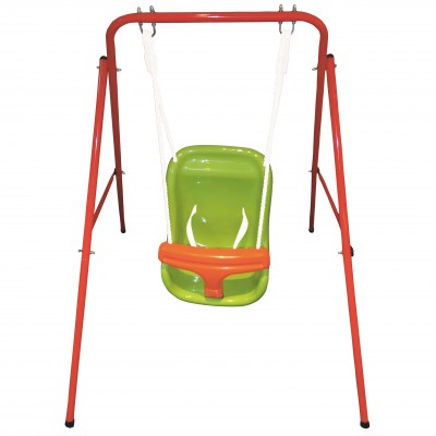 SWING BABY IN PAINTED STEEL WITH INTEGRAL SEAT cm. 95x103x113h