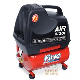 ELECTRIC COMPRESSOR FIAC AIR 6/201 PORTABLE COMPRESSED AIR WITH TANK LT. 6