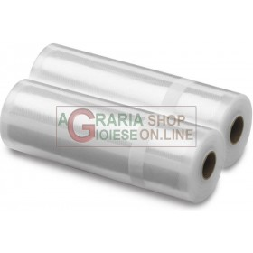 Conf. 2 EMBOSSED ROLLS FOR VACUUM CM. 15 x 600