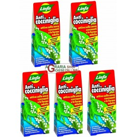 5 Pack of LYMPH ANTICOCCINIGLIA PLU INSECTICIDE CONCENTRATED LIQUID ML. 100