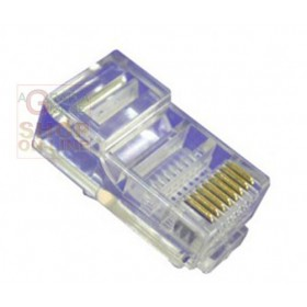 RJ 45 PLUG CONNECTOR CATEGORY 5 UTP PZ. 100