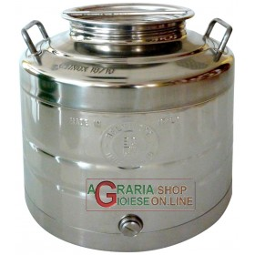 STAINLESS STEEL CONTAINER FOR FOOD LT. 30 HEAVY TYPE WITH WELDED BOTTOM
