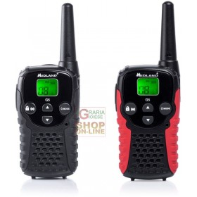 PAIR 2 MIDLAND DUAL BAND TRANSCEIVER PMR446 G5 C BLACK-BLACK RED