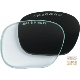 PAIR OF GREEN TEMPERED REPLACEMENT LENSES FOR 317 5 DIN