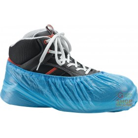 PVC SHOE COVER PACK OF 5 PAIRS COLOR BLUE