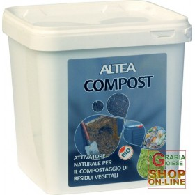 ALTEA COMPOST NATURAL ACTIVATOR FOR THE COMPOSTING OF VEGETABLE RESIDUES KG. 3.5