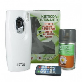 COPYR AUTOMATIC INSECTICIDE DISPENSER FOR CIVIL USE WITH REMOTE CONTROL AND REFILL