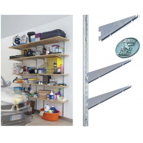 RACK FOR SHELVING ART. 2750 DOUBLE CAVITY CM.100 GALVANIZED