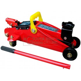 HYDRAULIC TROLLEY RATCHET TWO TONS WITH CASE TONS. 2 JACKS FOR