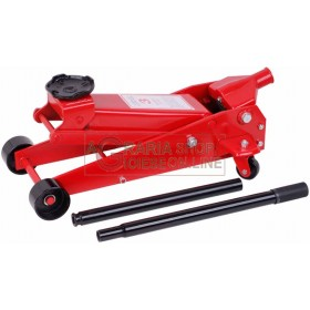HYDRAULIC TROLLEY RATCHET THREE TONS WITH CASE TONS. 3 JACKS